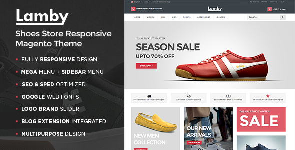 Lamby - Shoes Store Responsive Magento Theme-0