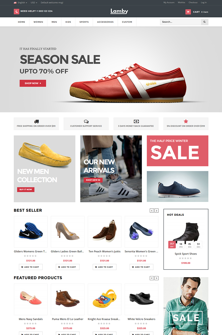 online shoes store theme