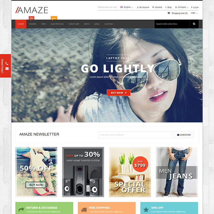 Amaze - Responsive PSD Template-0