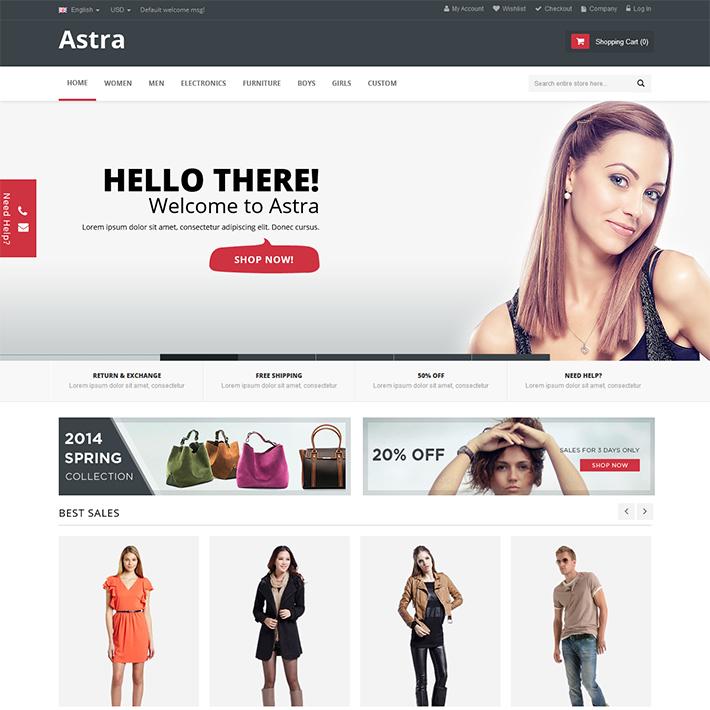 Astra - Responsive PSD Template-0