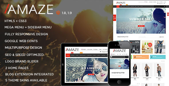 Amaze - Magento Theme-0
