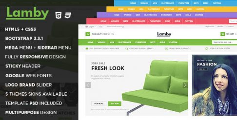 Lamby - Responsive HTML Template