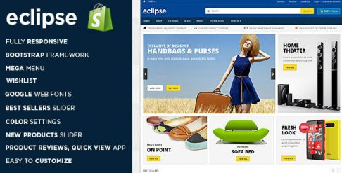 Eclipse - Digital Store Shopify Theme & Template