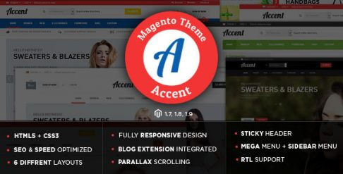 Accent - Gift Store Responsive Magento Theme