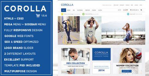Corolla - Music Store Responsive OpenCart Theme