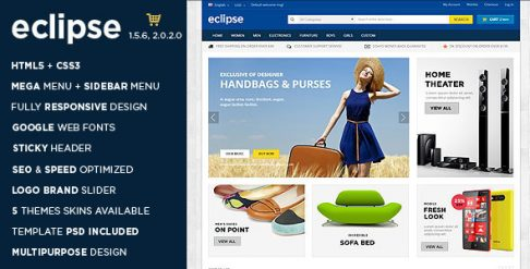 Eclipse - Digital Store OpenCart Theme