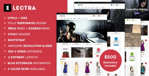 Electra - Fashion Store Magento Theme