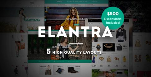 Elantra - Fashion Store Magento Theme
