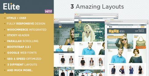 Elite - Fashion Store WooCommerce Wordpress Theme