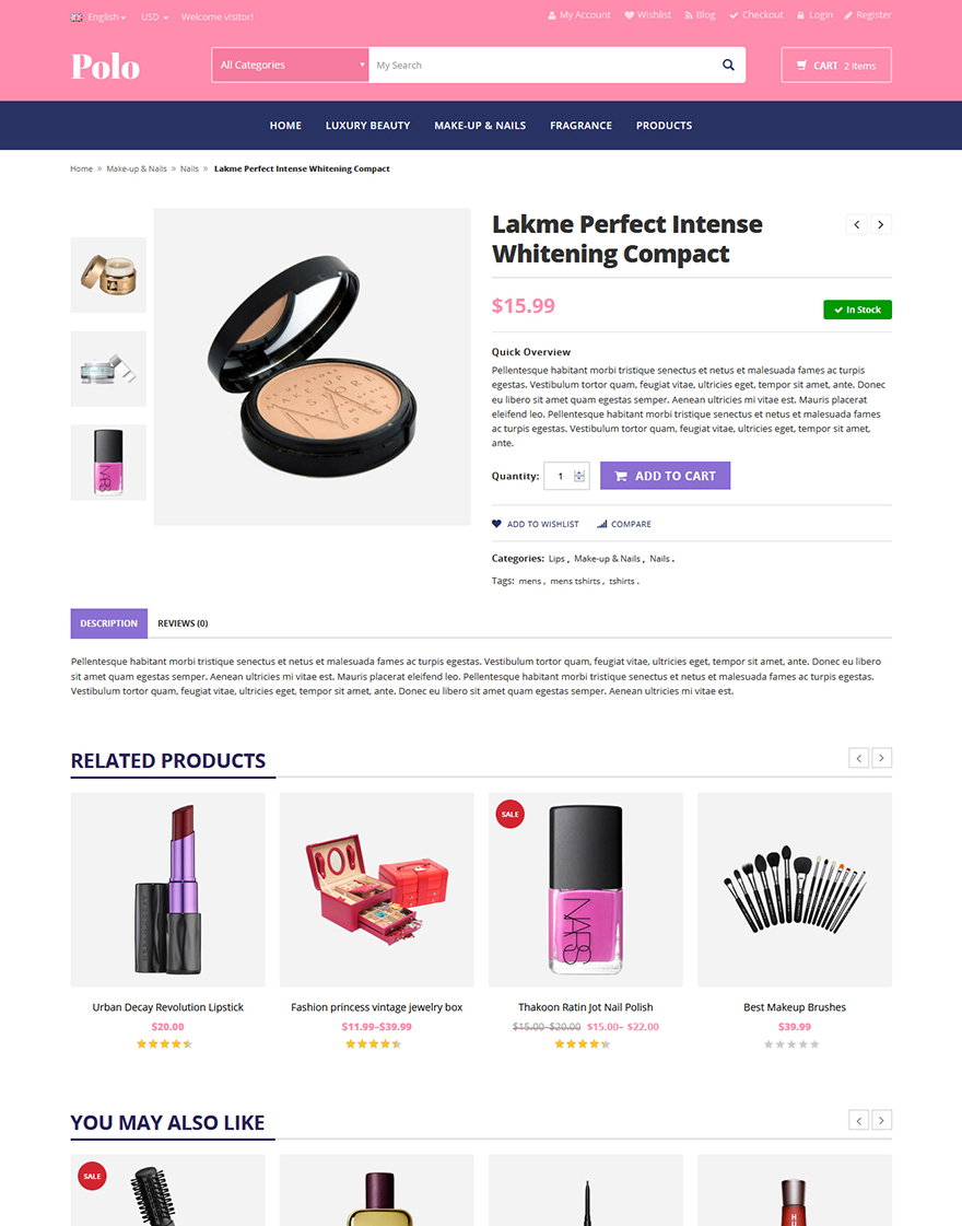 beauty store theme