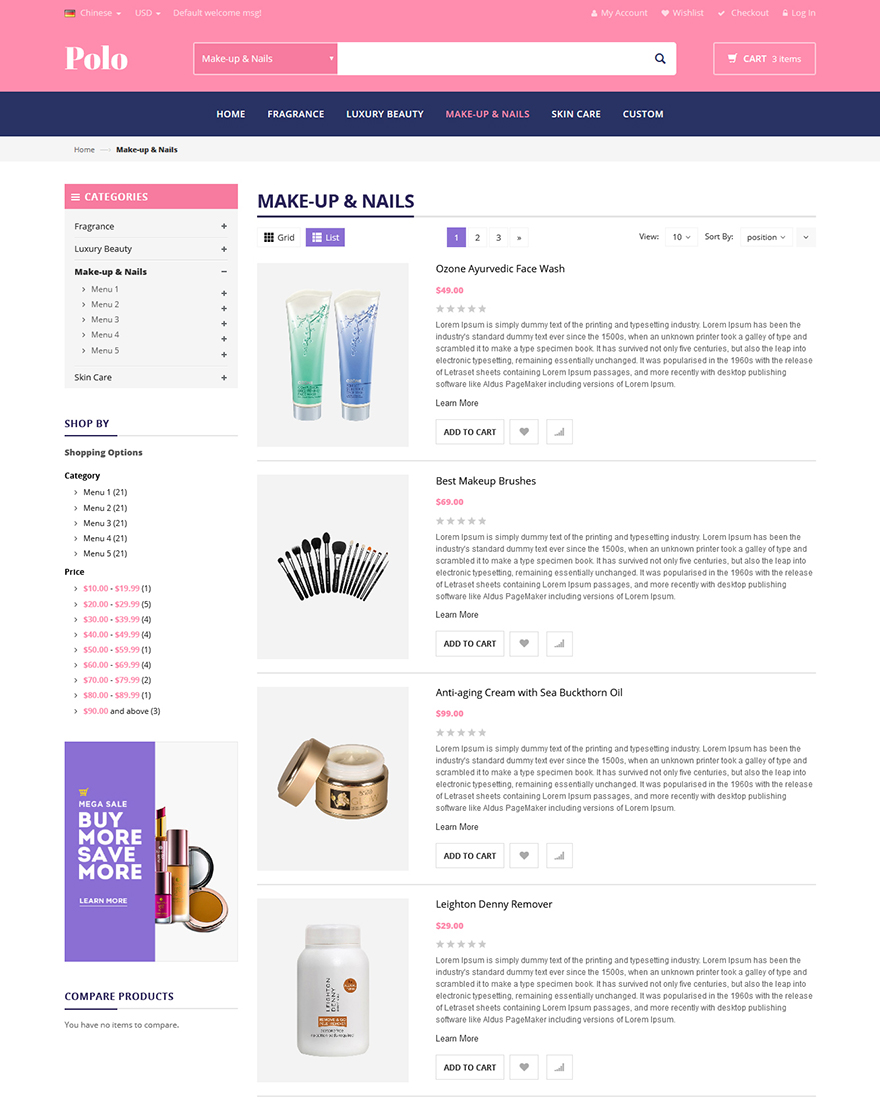 beauty shop magento