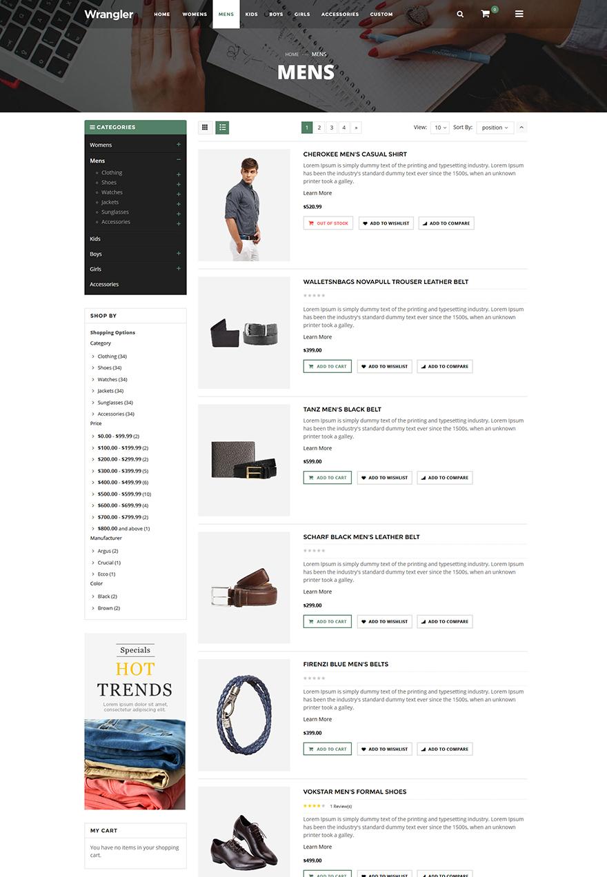 fashion store website magento