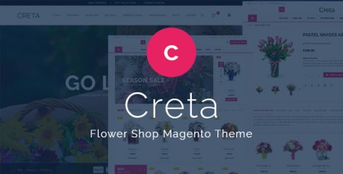 Creta - Flower Shop Magento Theme