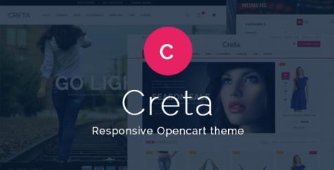 Creta - Responsive & Clean OpenCart Theme