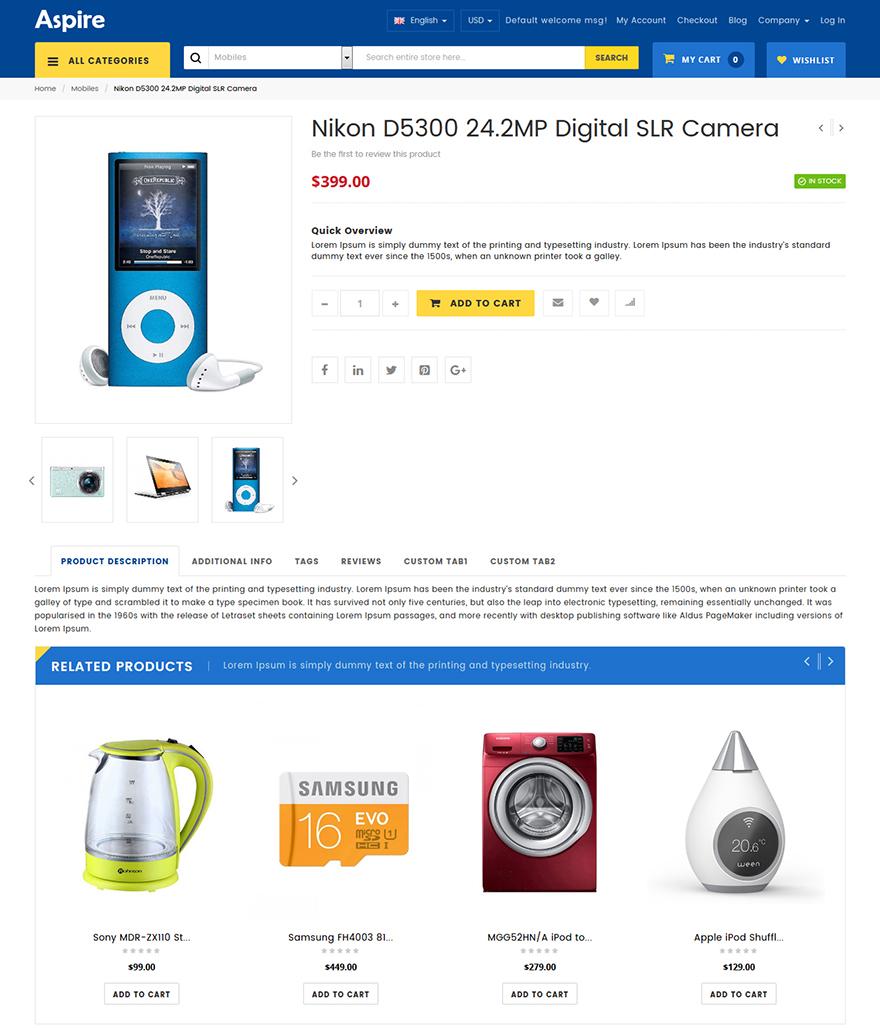 Electronic shop magento