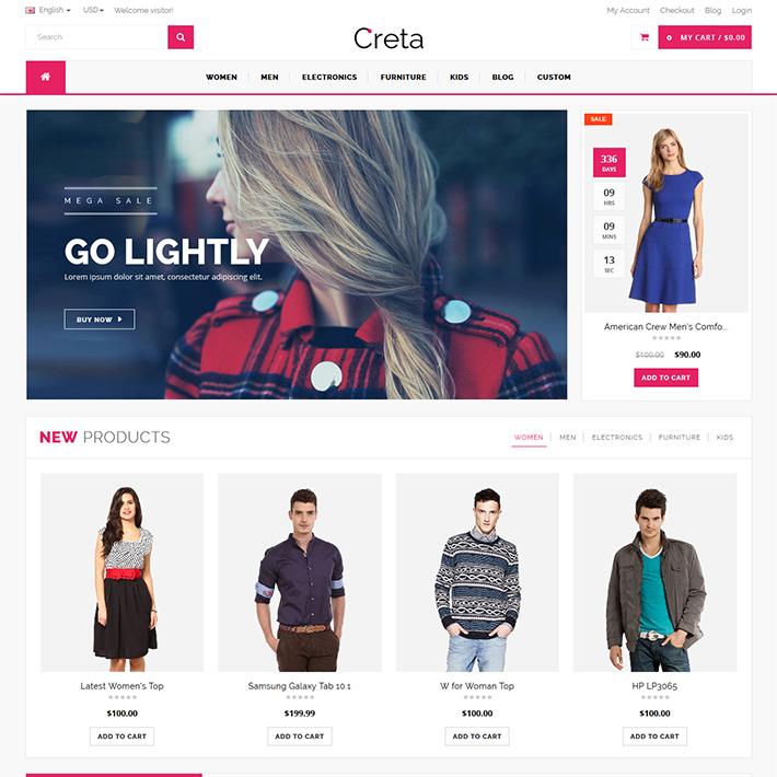 Creta - Responsive HTML Template-0