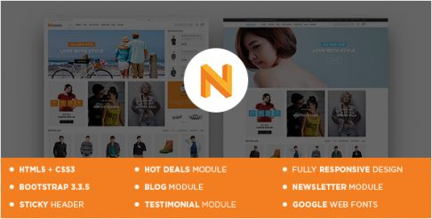 Nexon - Apparel Store Responsive OpenCart Theme