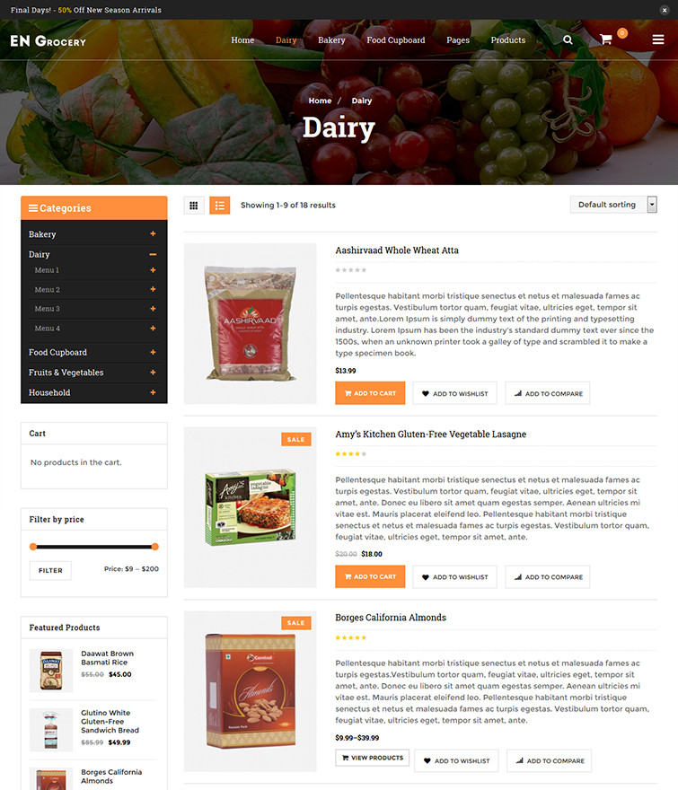 Beautiful and Easy to Browse Listing Page