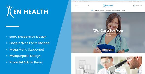 EN Health OpenCart Theme - Premium & Multipurpose Store Design-0