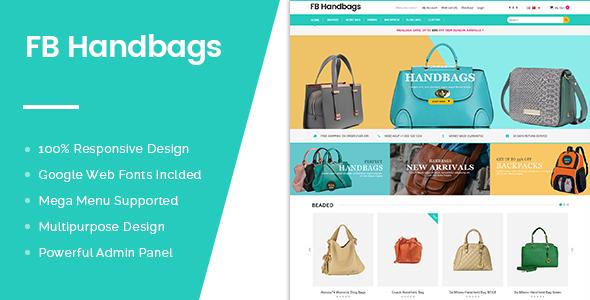 FB Handbags OpenCart Theme - Premium & Multipurpose Store Design-0