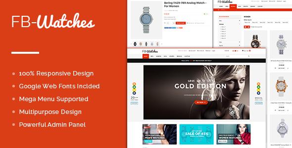 FB Watches OpenCart Theme - Premium & Multipurpose Store Design-0