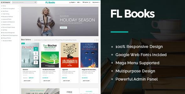 FL Books Store OpenCart Theme - Premium & Multipurpose Store Design-0