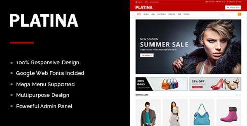 Platina Best Free OpenCart Theme