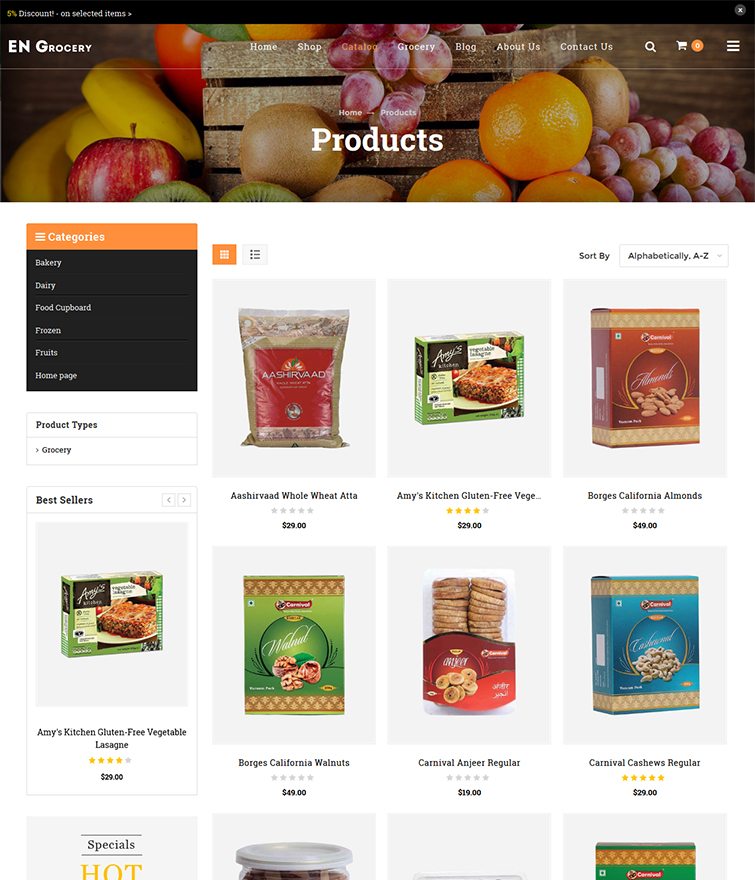 Fully Customizable Product Grid Page