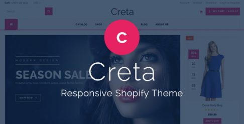 Creta - Flower Shop Shopify Theme & Template