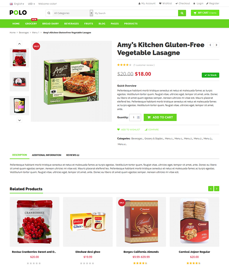 Flexible Product Detail Page  Grocery Templates