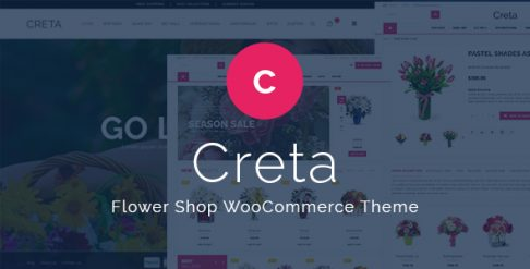 Creta Flower Shop WooCommerce WordPress Theme