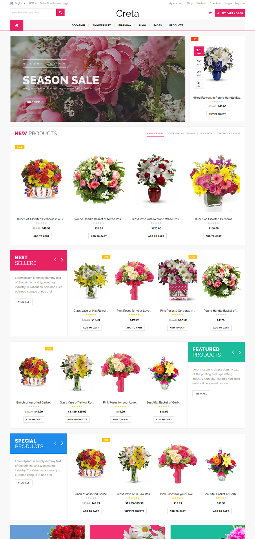 flower shop wordpress