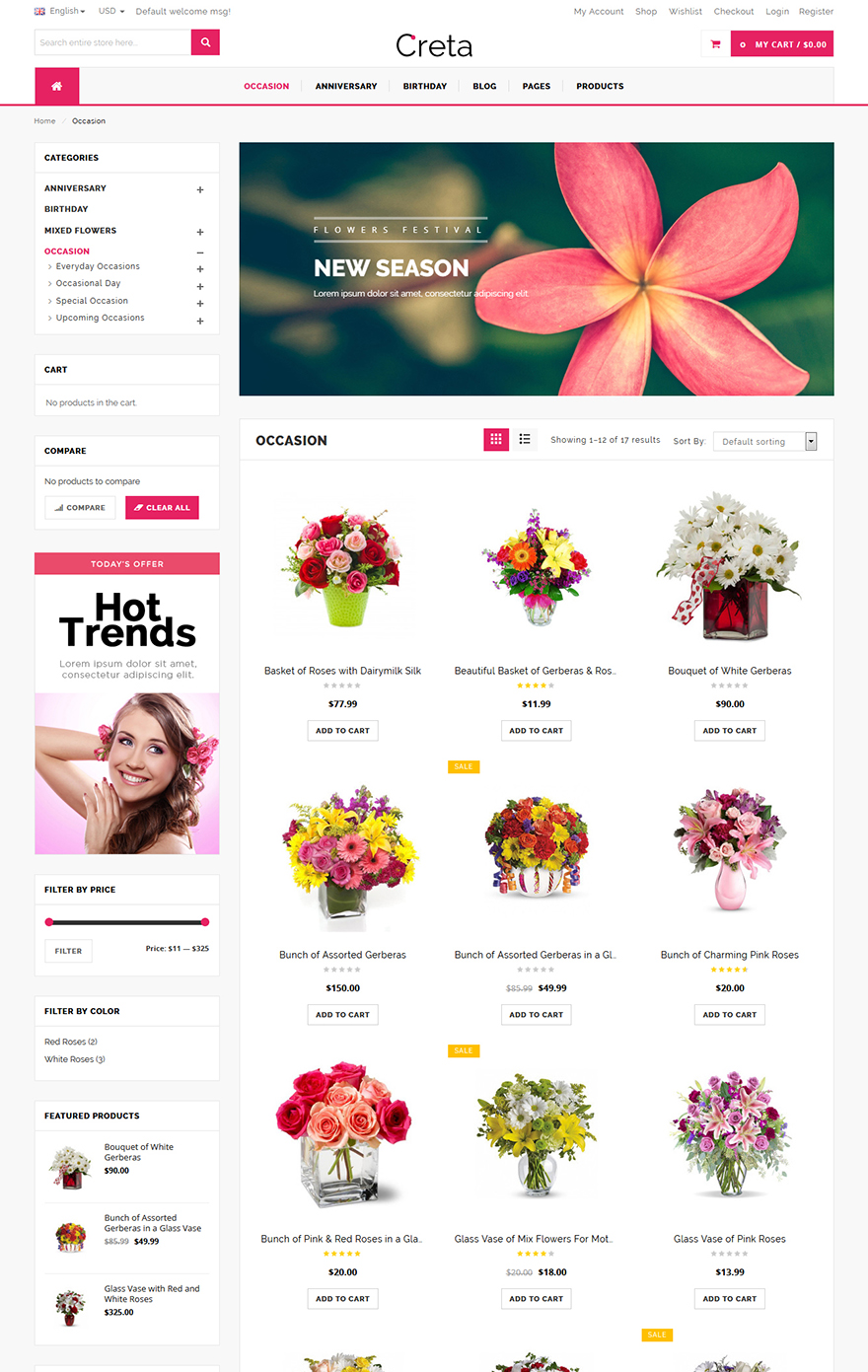 Flower store theme