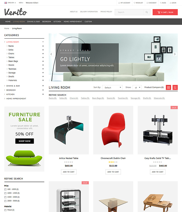 Verito OpenCart Premium Theme - 100% Responsive Template