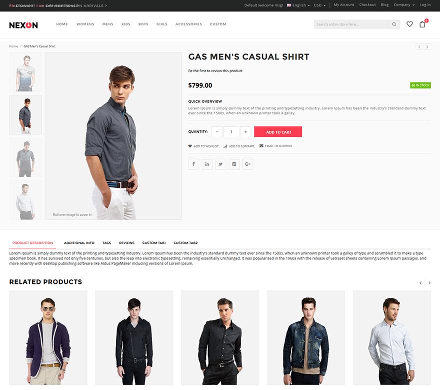 apparel magento theme