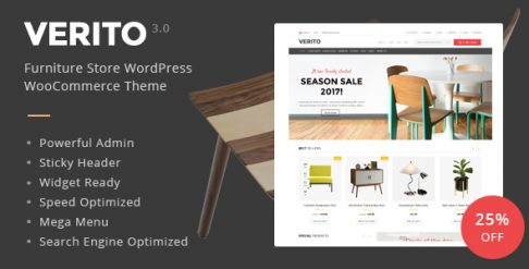 Verito Furniture Store WooCommerce Theme
