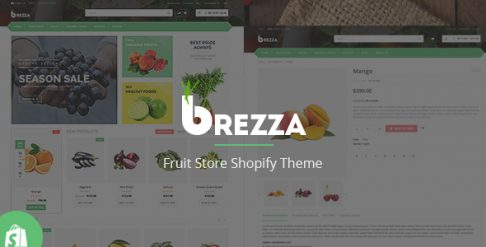 Brezza - Fruit Store Shopify Theme & Template