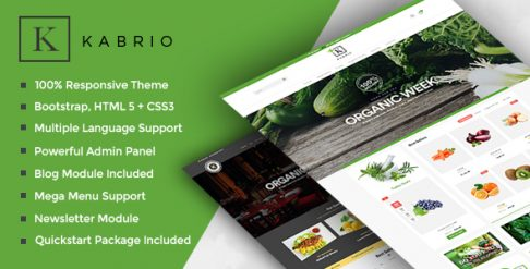 Kabrio - Food Store Responsive OpenCart Theme