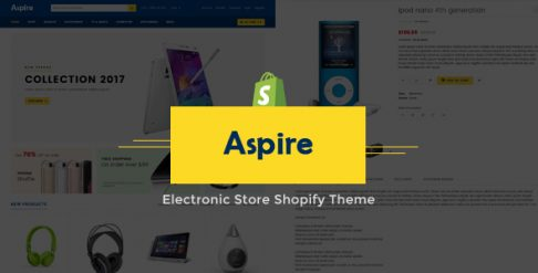 Aspire Electronic Store Shopify Theme & Template