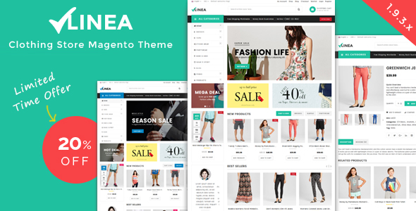 Linea - Clothing Store Magento Theme-0
