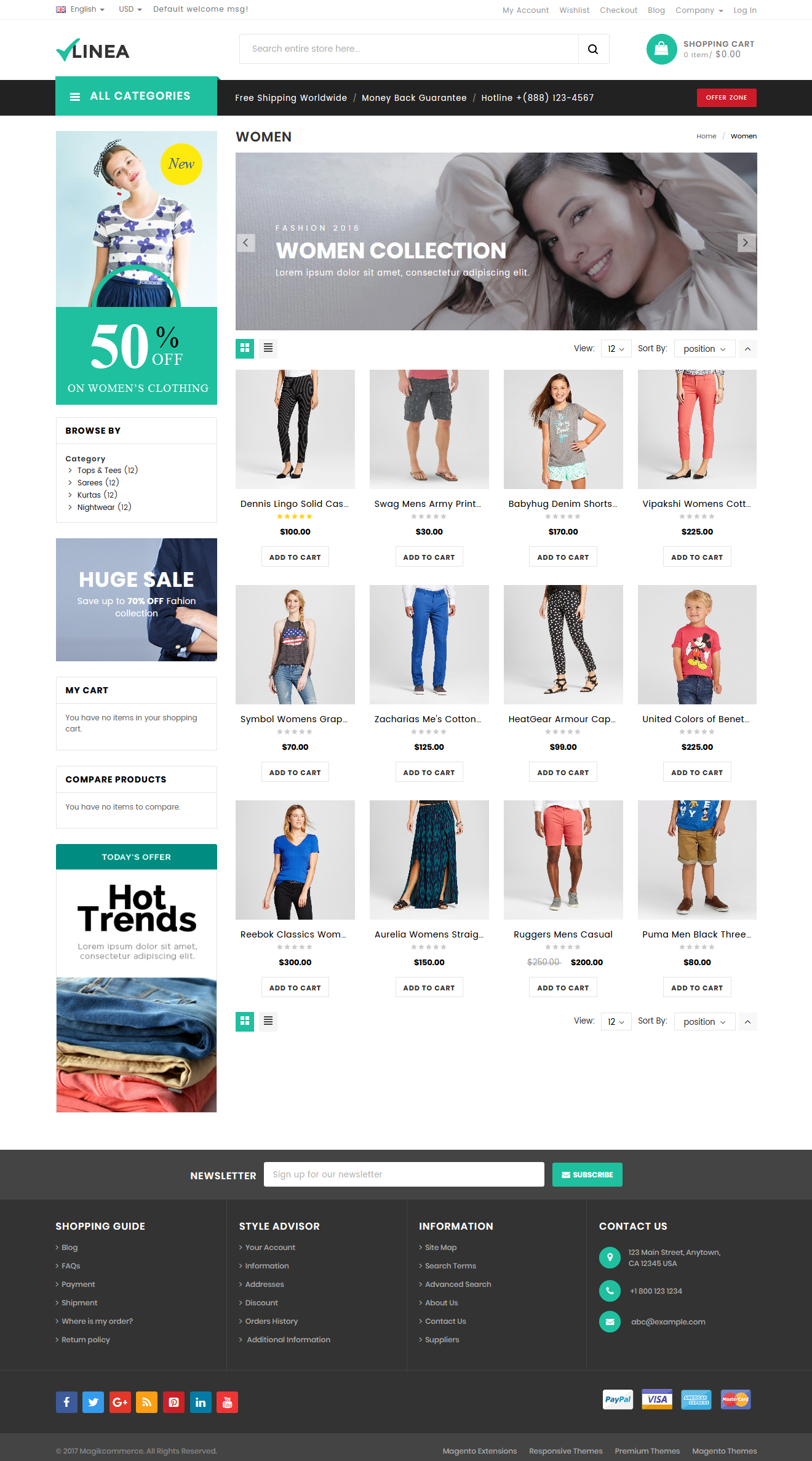 Clothing responsive theme