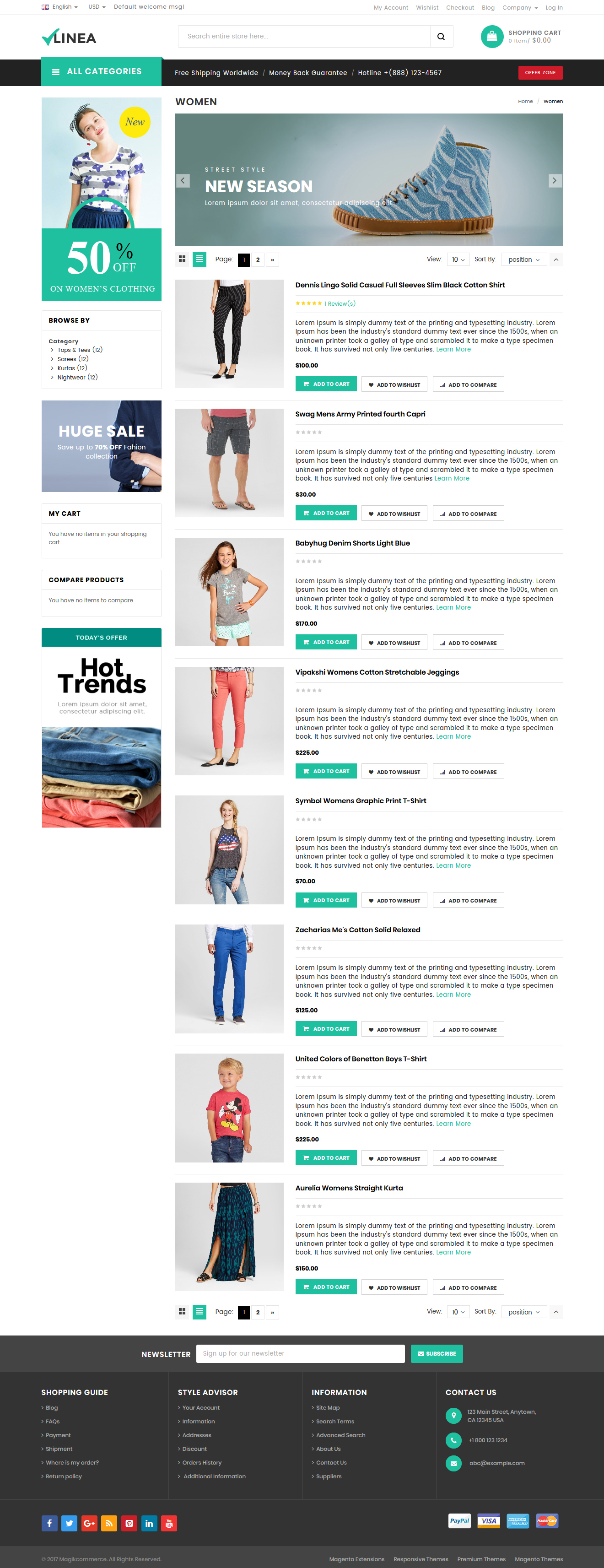 Clothing shop magento