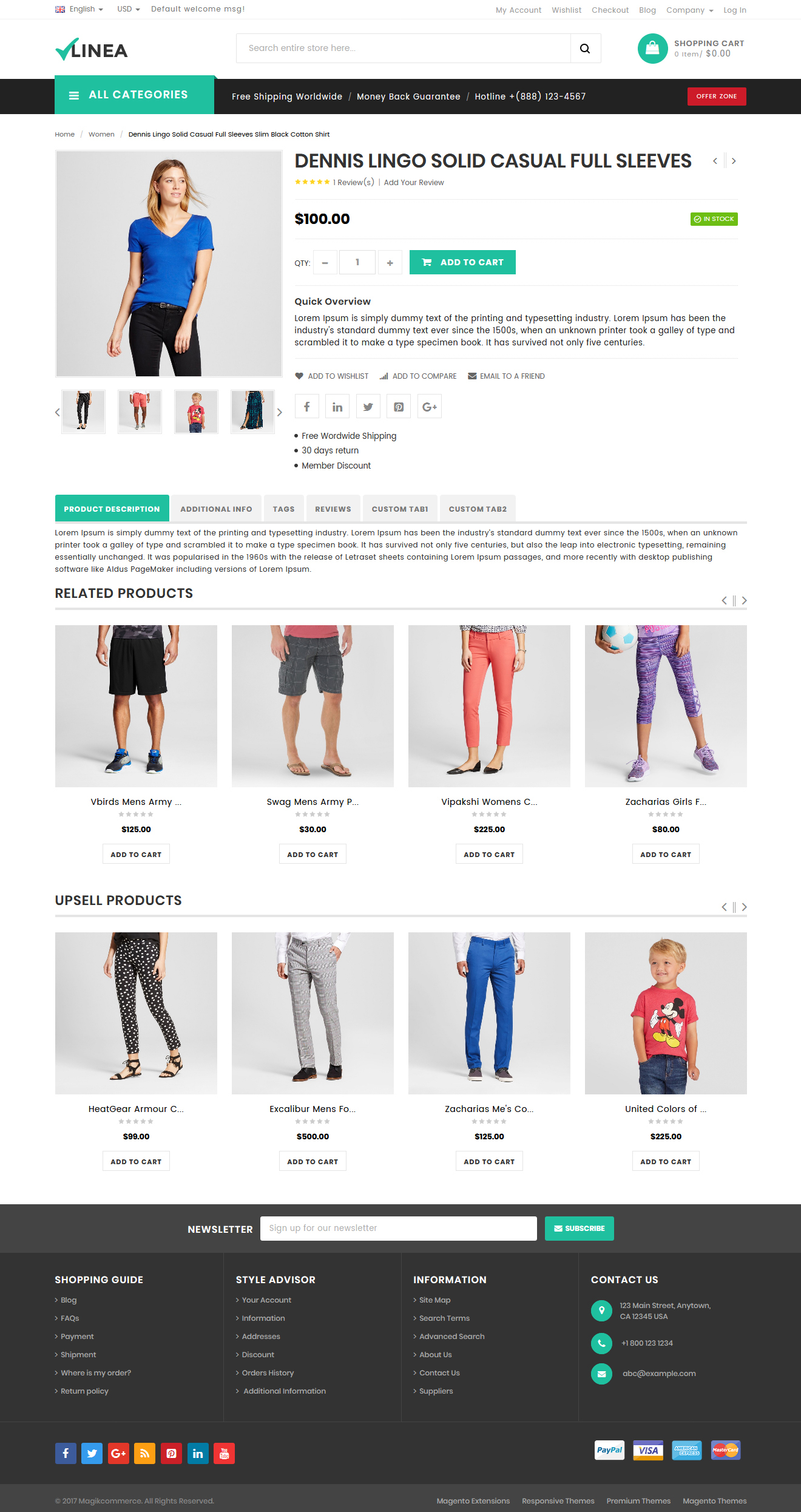 clothing magento theme