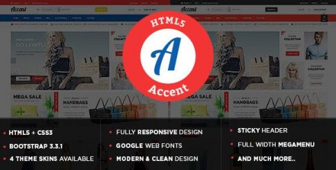 Accent - Responsive Multipurpose HTML5 Template
