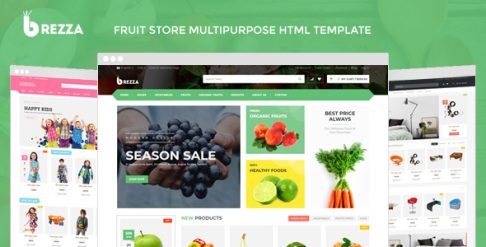 Brezza - Fruit Store Multipurpose HTML Template