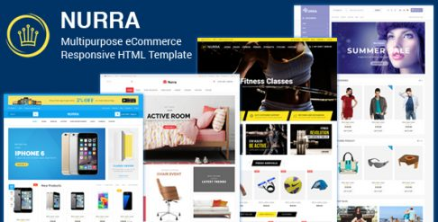 Nurra - Electronics, Furniture, Gym & Fashion Store Multipurpose Responsive HTML template