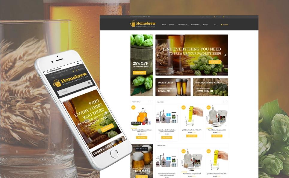 Responsive OpenCart Wine Store Theme