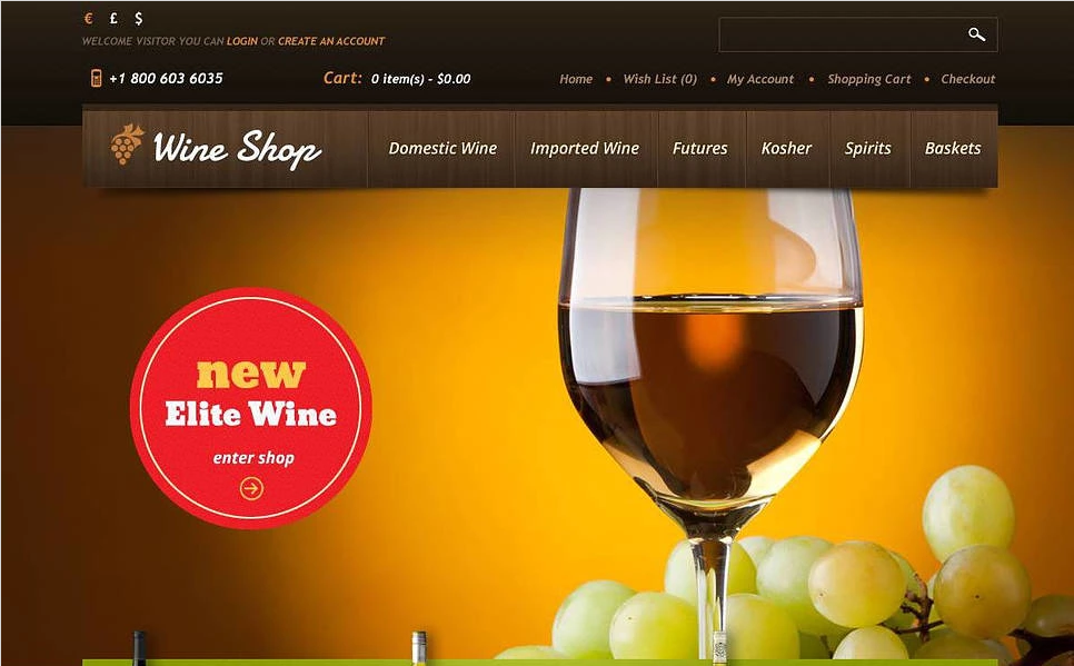 Wine Shop OpenCart Template