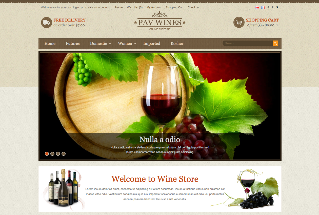 Wines Responsive Theme