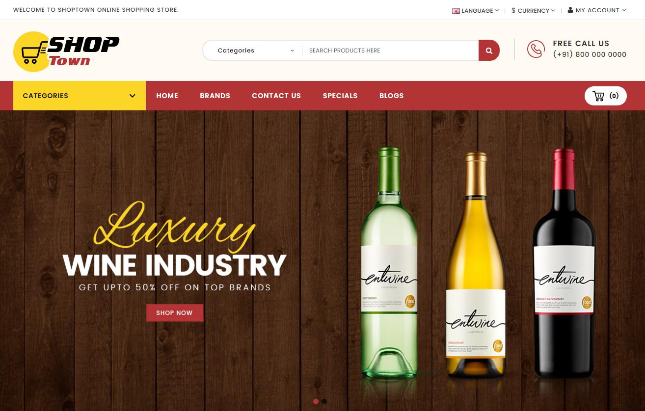 Responsive Opencart Wine & Spirit Theme
